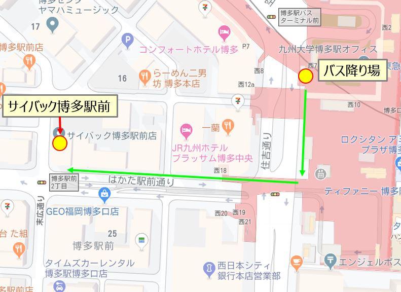 サイバック博多駅前の地図