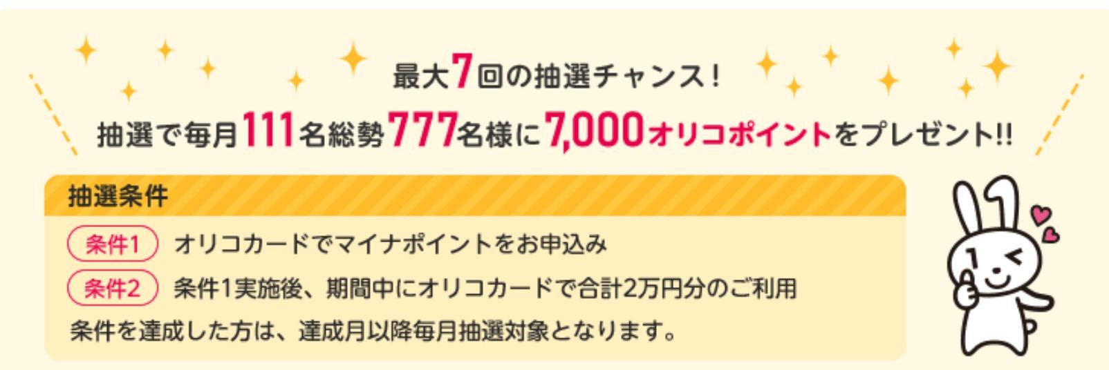 Oricoカードのキャンペーン
