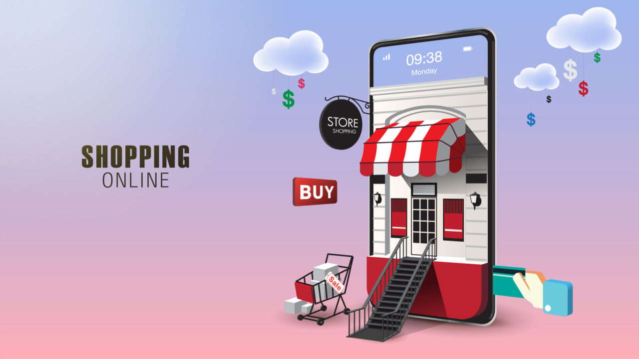 Shopping Online on Website or Mobile Application