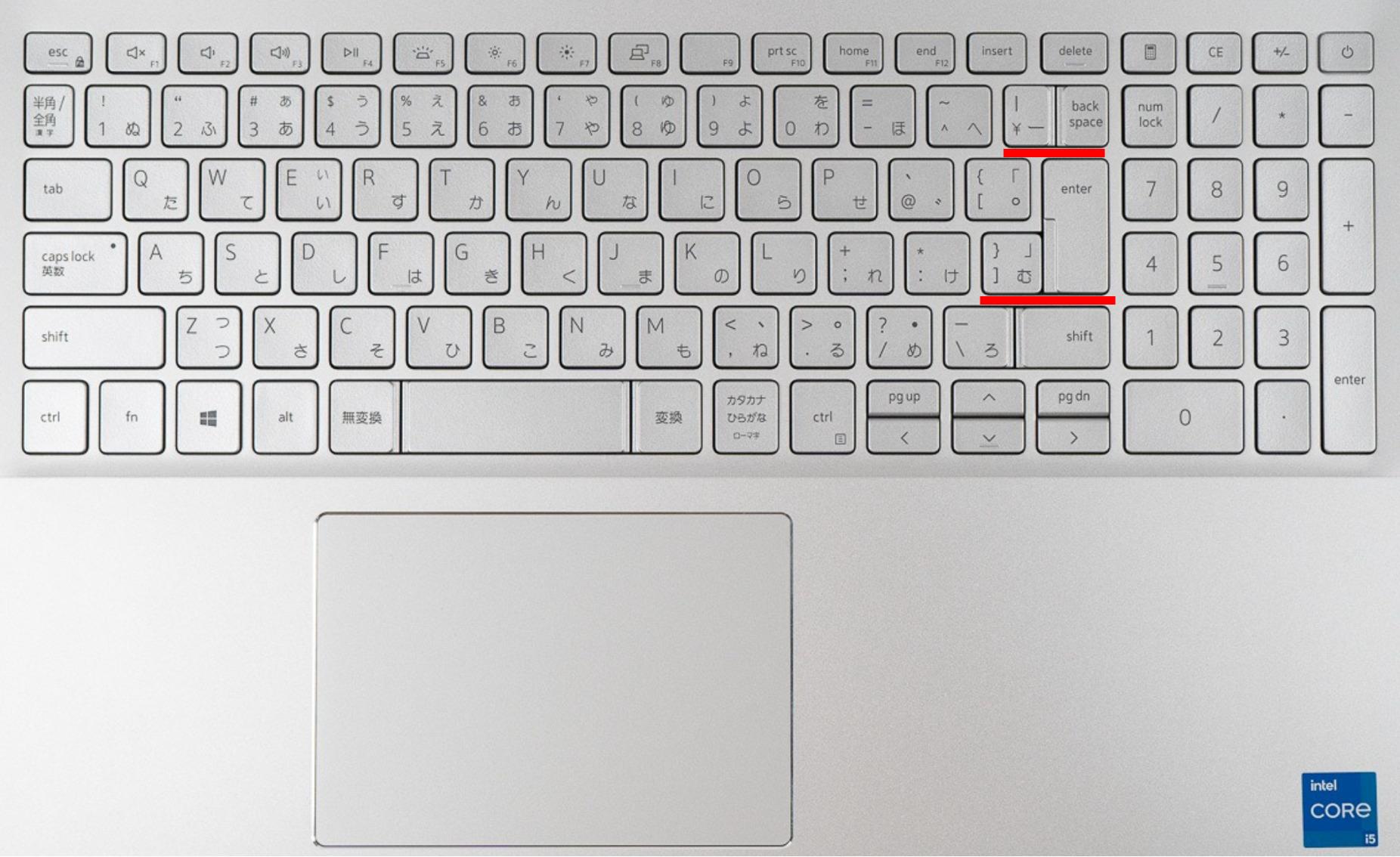 DELLキーボード配列