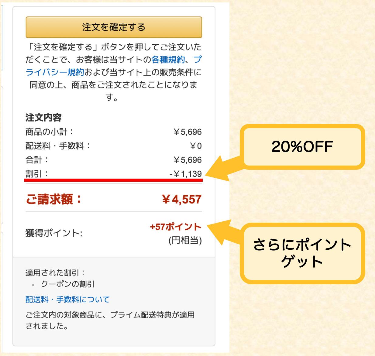 20%の値引き