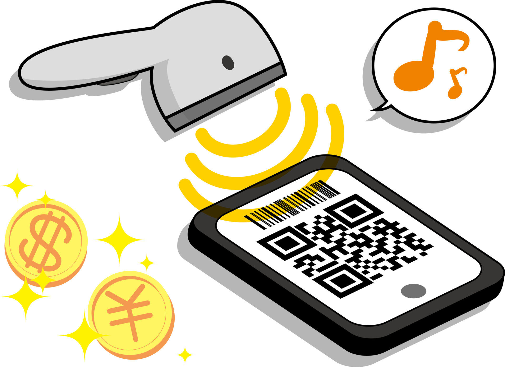 Display the QR code and pay for your smartphone.