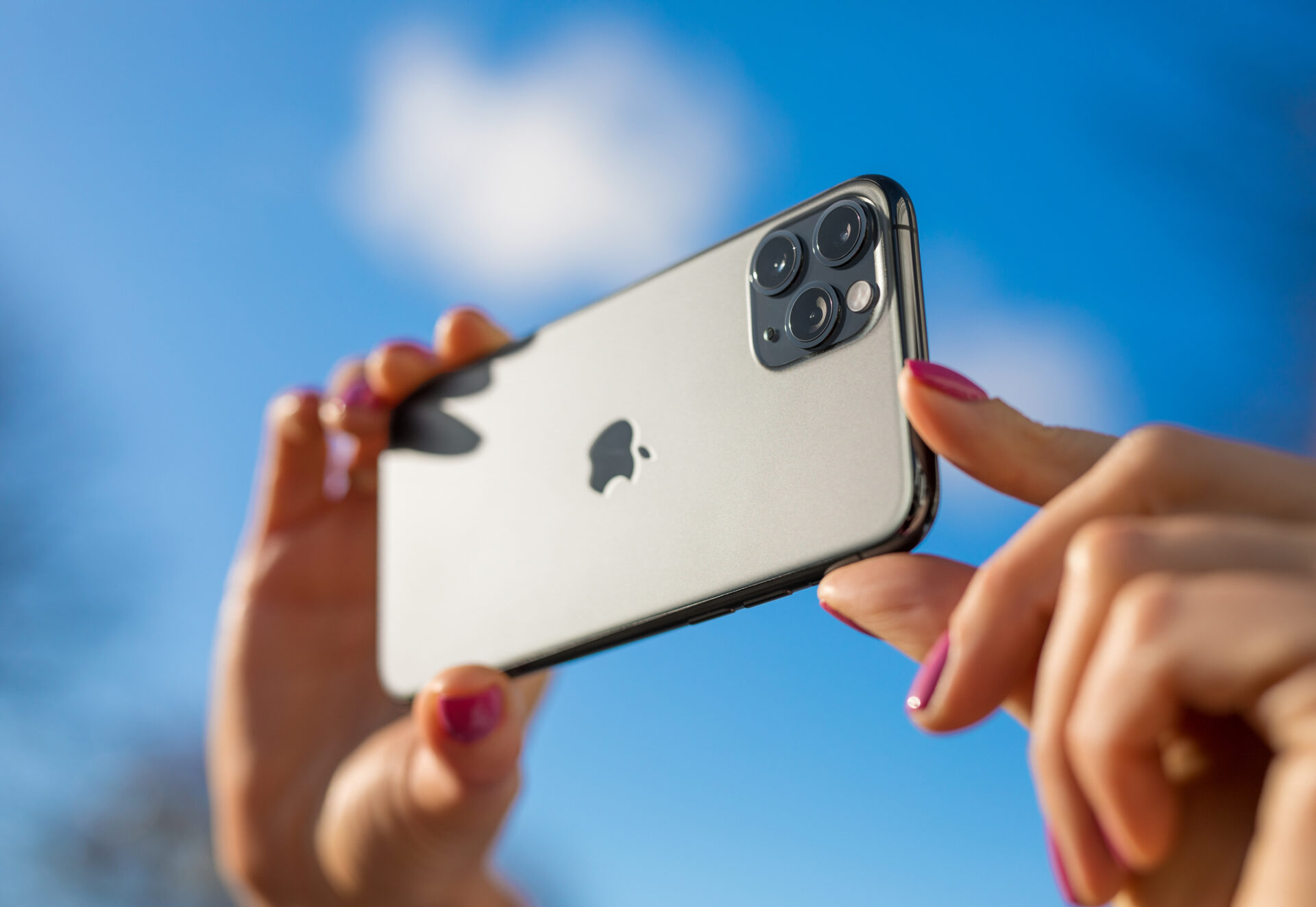 Apple iPhone 11 Pro mobile phone with triple-lens camera