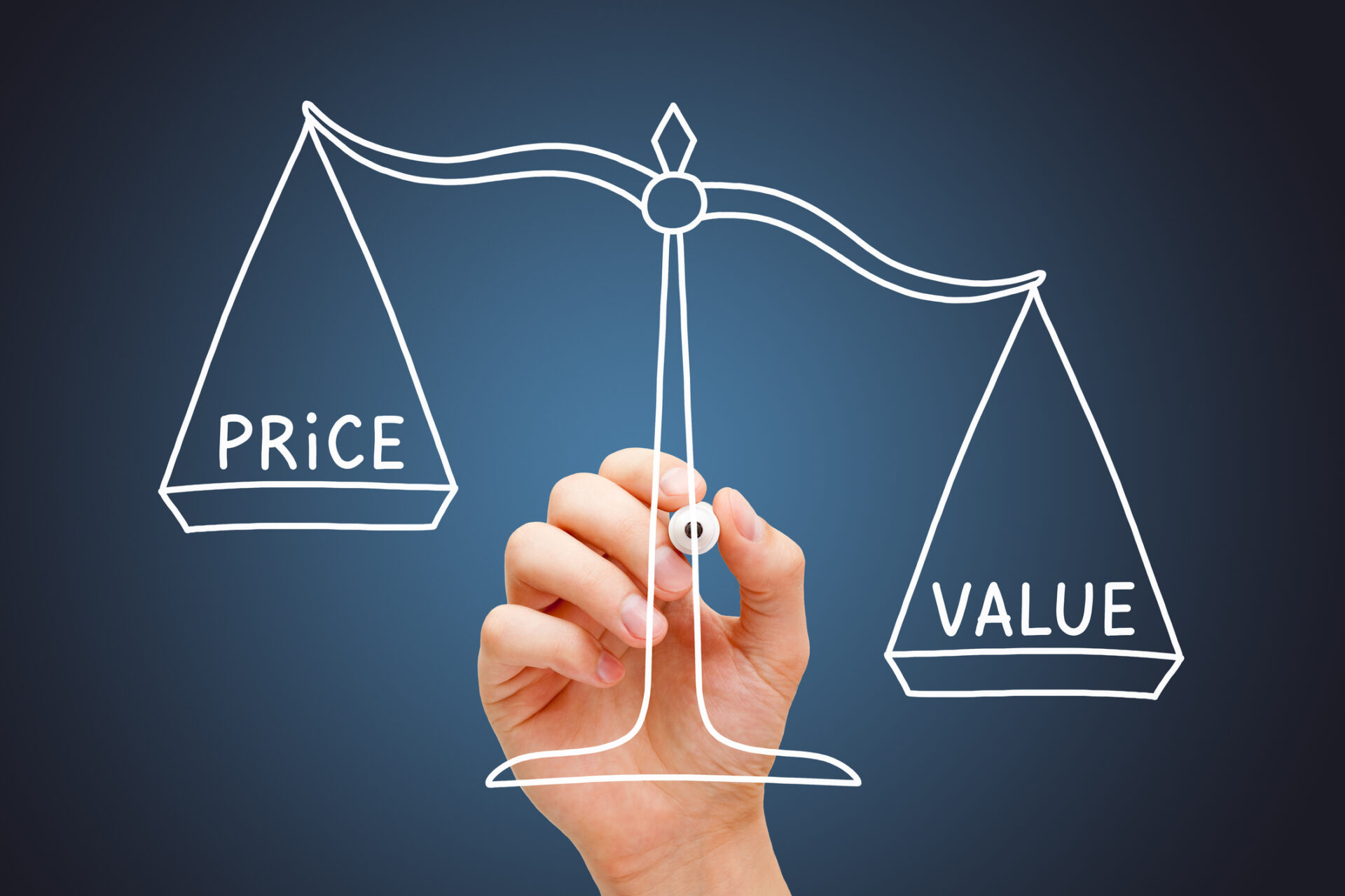 Value Price Scale Business Concept